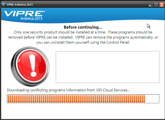 Installing Vipre on my laptop